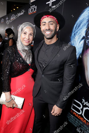 """Yousef Erakat and guest seen at Lionsgate Presents the World Premiere of Tyler Perry's """"Boo! A Madea Halloween"""" at ArcLight Cinerama Dome, in Los Angeles"""