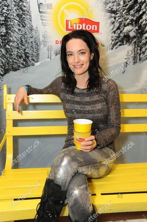 Actress Alex Lombard takes a tea-break at the Lipton Uplift Lounge amidst the hustle and bustle of Sundance, in Park City, UT
