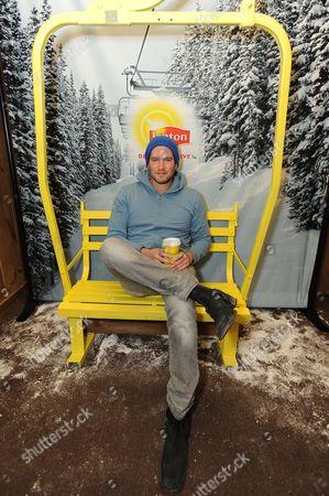 Musician Matt White takes a tea-break at the Lipton Uplift Lounge amidst the hustle and bustle of Sundance, in Park City, UT