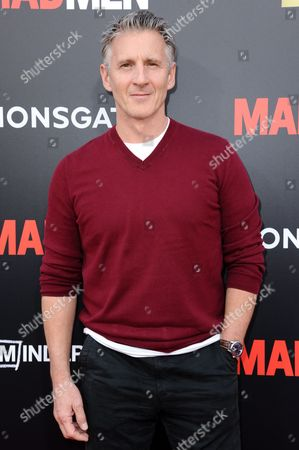 """Chris Stanley arrives at the Live Read And Series Finale Of """"Mad Men"""" held at The Theatre at Ace Hotel, in Los Angeles"""
