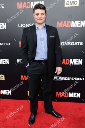 """Jay Ferguson arrives at the Live Read And Series Finale Of """"Mad Men"""" held at The Theatre at Ace Hotel, in Los Angeles"""