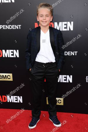 """Mason Vale Cotton arrives at the Live Read And Series Finale Of """"Mad Men"""" held at The Theatre at Ace Hotel, in Los Angeles"""