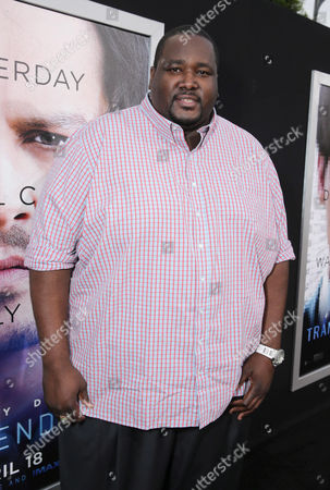 Quinton Aaron seen at the Los Angeles Premiere of Alcon Entertainment's 'Transcendence', on in Westwood, Calif