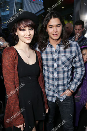 Sage Stewart and Booboo Stewart at the Los Angeles Premiere of DirecTV original series ROGUE, on Tuesday, March, 26, 2013 in Los Angeles held at Arclight Hollywood
