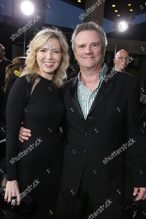 Vice President and General Manager of Audience Network Patty Ishimoto and Producer Nick Hamm at the Los Angeles Premiere of DirecTV original series ROGUE, on Tuesday, March, 26, 2013 in Los Angeles held at Arclight Hollywood