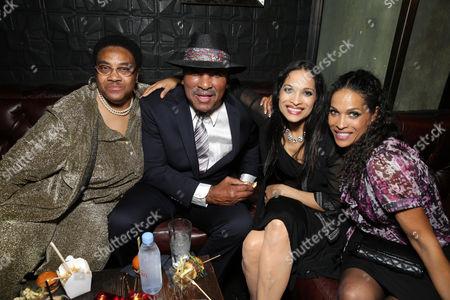 "Caroline Ali, Rahman Ali, Jamillah Ali-Joyce and Rasheda Ali-Walsh seen at the Los Angeles Premiere of Focus World's ""I Am Ali"" on Wed, in Hollywood"