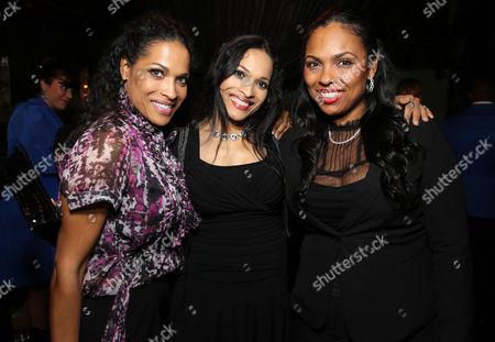 "Rasheda Ali-Walsh, Jamillah Ali-Joyce and Hana Ali seen at the Los Angeles Premiere of Focus World's ""I Am Ali"" on Wed, in Hollywood"
