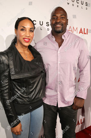 """Stock Image of Marcellus Wiley and Jazmin Lopez seen at the Los Angeles Premiere of Focus World's """"I Am Ali"""" on Wed, in Hollywood"""
