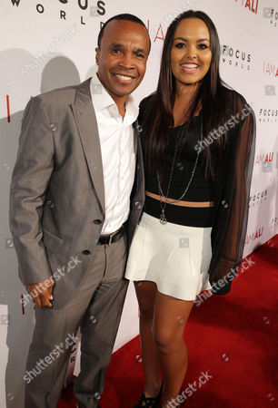 """Sugar Ray Leonard and Camille Leonard seen at the Los Angeles Premiere of Focus World's """"I Am Ali"""" on Wed, in Hollywood"""