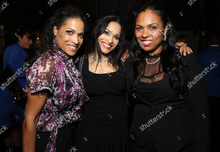 "Rasheda Ali-Walsh, Jamillah Ali-Joyce and Hana Ali seen at the Los Angeles Premiere of Focus World's ""I Am Ali"" on Wed, in Hollywood"