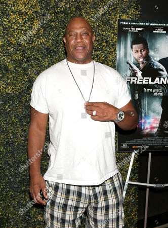 "Tommy 'Tiny' Lister attends the Los Angeles Screening of ""Freelancers"" at the Chinese Mann 6, in Los Angeles, Ca"