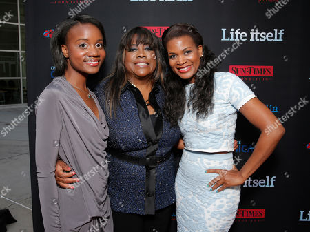 "Raven Evans, Chaz Ebert and Sonia Evans attend Magnolia Pictures' Los Angeles Premiere of ""Life Itself"" at the ArcLight Hollywood on in Hollywood, California"