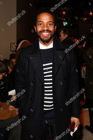 Actor Andre Gordon seen at the Public School fashion show during MBFW Fall/Winter 2015 at 330 Hudson Street on in New York