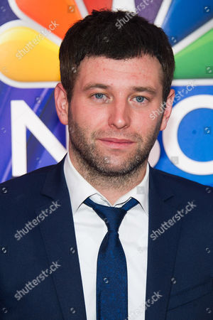 Stock Photo of Brent Morin arrives at the NBC Network 2015 Programming Upfront presentation at Radio City Music Hall, in New York