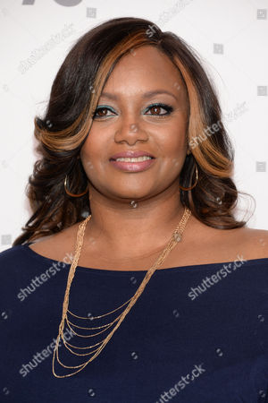 """Natalie Hawkins of """"Douglas Family Gold"""" attends the NBCUniversal Cable Entertainment 2015 Upfront at The Javits Center, in New York"""