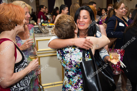 Jodi Mancuso, right, and Inga Thrasher attend Networking Night Out NYC presented by the Television Academy for its NY-based members at the St. Regis Hotel on in New York