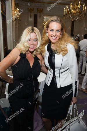 Ariane Von Kamp, left, and Jennifer McGrath attend Networking Night Out NYC presented by the Television Academy for its NY-based members at the St. Regis Hotel on in New York