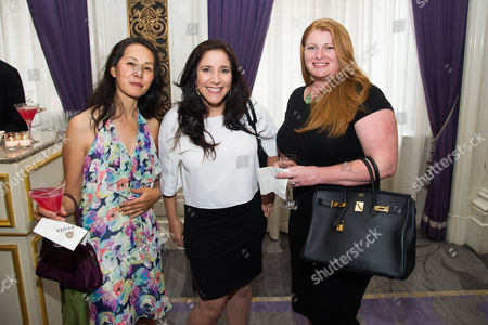 Stock Photo of Karen Tsen Lee, left, and Leisa Aras, right, attend Networking Night Out NYC presented by the Television Academy for its NY-based members at the St. Regis Hotel on in New York