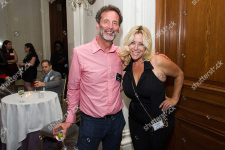 David Kleeman, left, and Ariane Von Kamp attend Networking Night Out NYC presented by the Television Academy for its NY-based members at the St. Regis Hotel on in New York