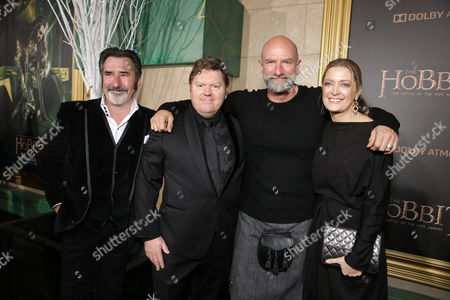 William Kircher, Stephen Hunter, Graham McTavish and Carolyn Blackwood, Senior VP Business Affairs of New Line Cinema seen at New Line Cinema and Metro-Goldwyn-Mayer Pictures presents the Los Angeles Premiere of 'The Hobbit: The Battle of The Five Armies', in Los Angeles