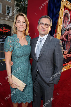 Nancy Walls and husband Steve Carell at New Line Cinema's World Premiere of 'The Incredible Burt Wonderstone' held at Grauman's Chinese Theatre on Monday, Mar., 11, 2013 in Los Angeles
