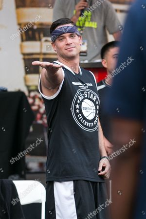 Mark Salling attends the Nike Basketball 3ON3 Tournament - ESPNLA 710 All-Star Celebrity Game held at L.A. LIVE's Microsoft Square, in Los Angeles