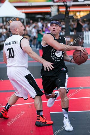 Mark Salling plays in the Nike Basketball 3ON3 Tournament - ESPNLA 710 All-Star Celebrity Game held at L.A. LIVE's Microsoft Square, in Los Angeles