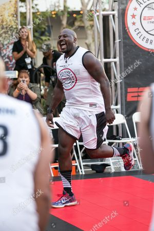Marcellus Wiley attends the Nike Basketball 3ON3 Tournament - ESPNLA 710 All-Star Celebrity Game held at L.A. LIVE Microsoft Square, in Los Angeles