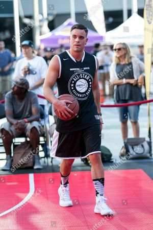 Mark Salling attends the Nike Basketball 3ON3 Tournament - ESPNLA 710 All-Star Celebrity Game held at L.A. LIVE Microsoft Square, in Los Angeles