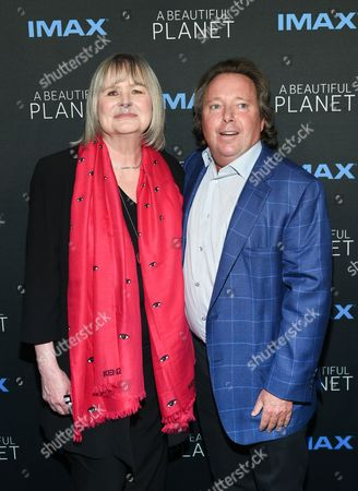 """Director Toni Myers, left, and IMAX CEO Richard Gelfond attend the premiere of """"A Beautiful Planet"""" at AMC Loews Lincoln Square, in New York"""