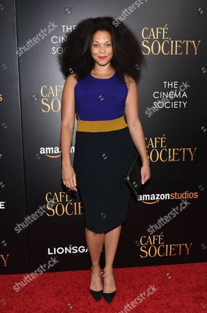"""Model Julie Henderson attends the premiere of Amazon Studio and Liongate's """"Cafe Society"""", hosted by The Cinema Society, at the Paris Theatre, in New York"""