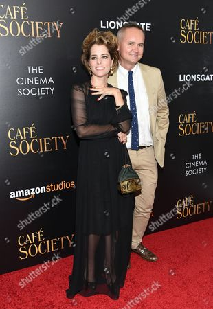 """Actress Parker Posey, and Amazon Studios head Roy Price attend the premiere of Amazon Studio and Liongate's """"Cafe Society"""", hosted by The Cinema Society, at the Paris Theatre, in New York"""