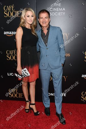"""Alissa Morrison and producer Edward Walson attend the premiere of Amazon Studio and Liongate's """"Cafe Society"""", hosted by The Cinema Society, at the Paris Theatre, in New York"""