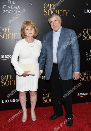 "Producer Letty Aronson and husband attend the premiere of Amazon Studio and Liongate's ""Cafe Society"", hosted by The Cinema Society, at the Paris Theatre, in New York"