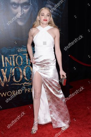 """Actress Mackenzie Mauzy attends the premiere of """"Into The Woods"""" at the Ziegfeld Theatre, in New York"""