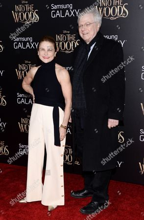 """Stock Picture of Tovah Feldshuh and husband Andrew Levy attend the premiere of """"Into The Woods"""" at the Ziegfeld Theatre, in New York"""