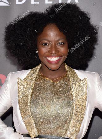 "Charity Jordan attends the premiere of ""Selma"" at the Ziegfeld Theatre, in New York"