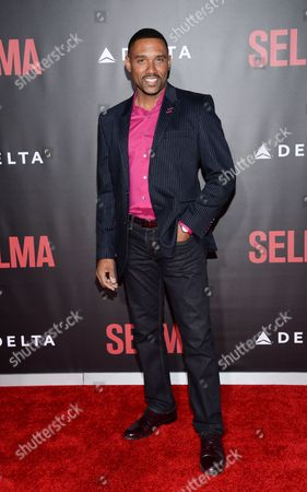 """Stock Picture of Actor Kent Faulcon attends the premiere of """"Selma"""" at the Ziegfeld Theatre, in New York"""
