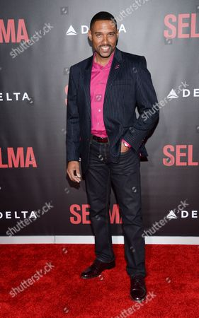 """Actor Kent Faulcon attends the premiere of """"Selma"""" at the Ziegfeld Theatre, in New York"""