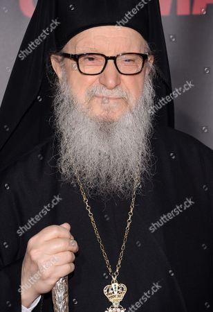 "Archbishop Demetrios of America attends the premiere of ""Selma"" at the Ziegfeld Theatre, in New York"
