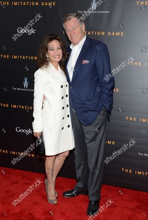 """Susan Lucci and Helmut Huber attend the premiere of """"The Imitation Game"""" at Ziegfeld Theatre, in New York"""