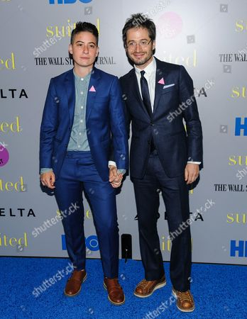 """Rae Tutera and Daniel Friedman attend the premiere of HBO Documentary Films' """"Suited"""", at BAM Rose Cinemas, in New York"""