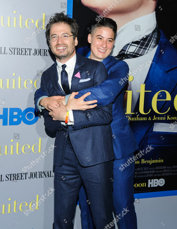 """Stock Picture of Rae Tutera and Daniel Friedman attend the premiere of HBO Documentary Films' """"Suited"""", at BAM Rose Cinemas, in New York"""
