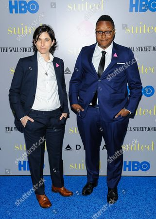 """Melissa Plaut and Everett Arthur attend the premiere of HBO Documentary Films' """"Suited"""", at BAM Rose Cinemas, in New York"""