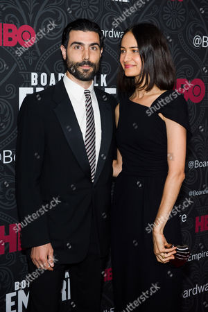 """Louis Cancelmi and Elisabeth Waterston attend the premiere for the final season of HBO's """"Boardwalk Empire"""" on in New York"""