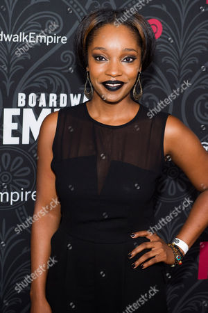 "Christina Jackson attends the premiere for the final season of HBO's ""Boardwalk Empire"" on in New York"