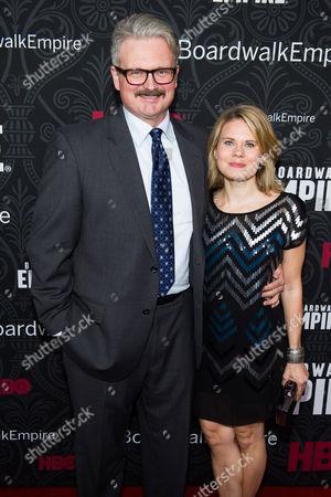 "John Ellison Conlee and Celia Keenan-Bolge attend the premiere for the final season of HBO's ""Boardwalk Empire"" on in New York"