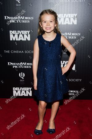 """Stock Image of Erin Gerasimovich attends a screening of """"Delivery Man"""" hosted by The Cinema Society and DreamWorks Pictures on in New York"""