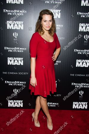 "Stock Picture of Leslie Ann Glossner attends a screening of ""Delivery Man"" hosted by The Cinema Society and DreamWorks Pictures on in New York"