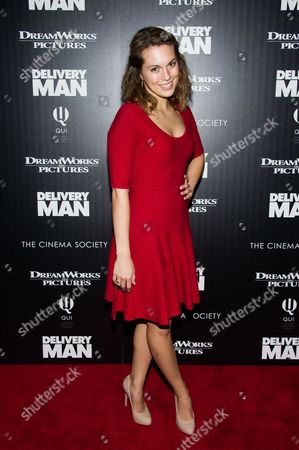 "Stock Photo of Leslie Ann Glossner attends a screening of ""Delivery Man"" hosted by The Cinema Society and DreamWorks Pictures on in New York"